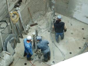 Core Drill Holes in Concrete
