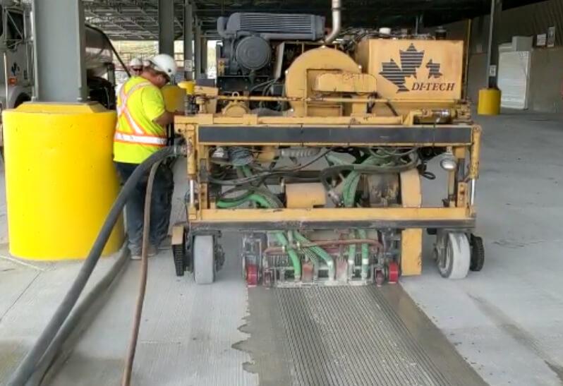 Transverse Grooving Concrete